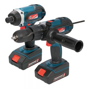 Silverstorm 18V Combi Drill & Impact Driver Twin P